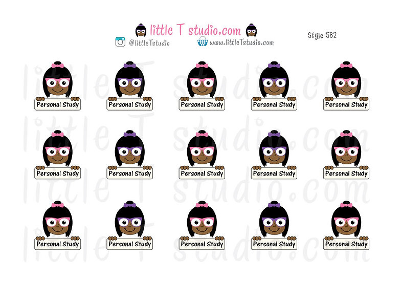 Personal Study Stickers - Style 582