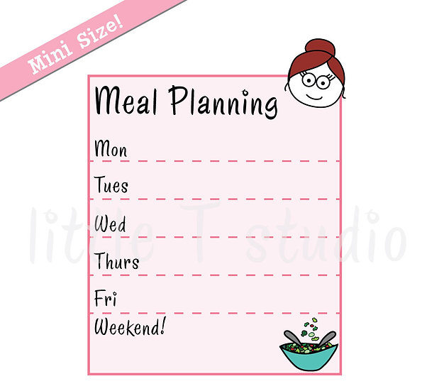 Busy Ballerina Mini Size - Meal Planning Stickers - Style 231M