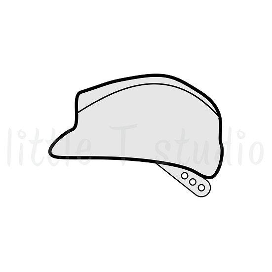 Hard Hat Construction Mini Stickers - Style 061M