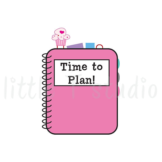 Time to Plan! Fun Planner Reminder Mini Stickers - Style 043M