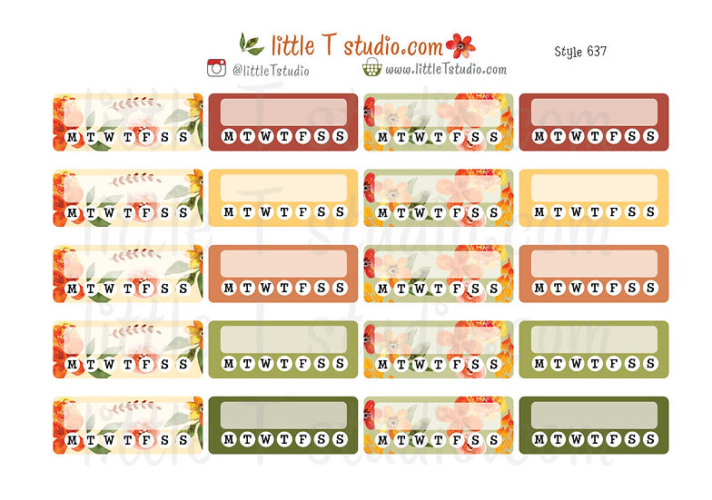 Crisp Morning Fall Daily Habit Tracker Stickers - Style 637