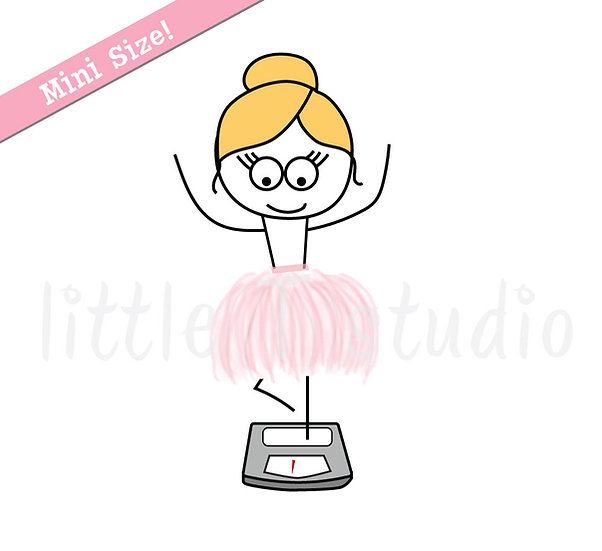 Busy Ballerina Mini Size - Weigh Scale Stickers - Style 200M