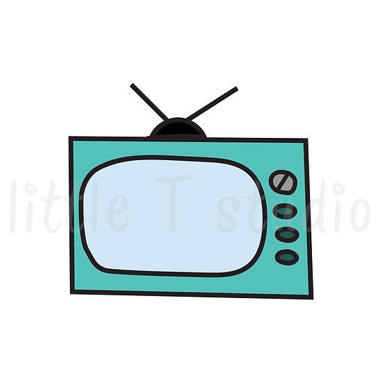 Retro TV's Mini Size Icon Stickers - Style 133M