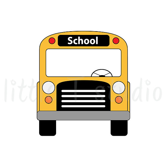 School Bus Mini Stickers - Style 162M