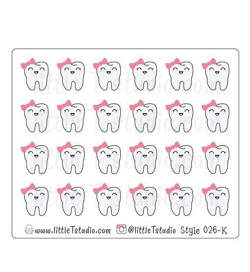 Kawaii Stickers - Girl Dentist Appointment - Style 026-K