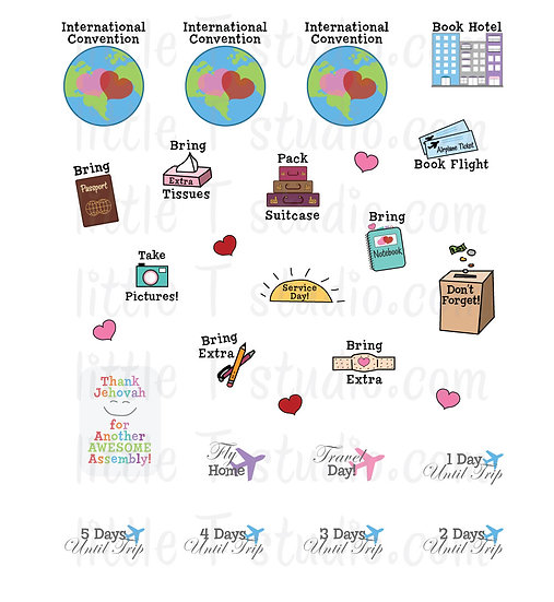 International Convention Variety Sheet Mini Size Stickers - Style 149M