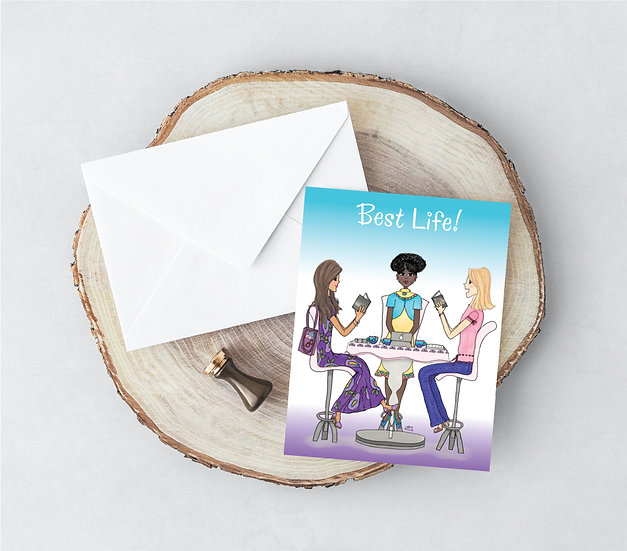 Bible Study Best Life - Printed Greeting Card and Envelope Set