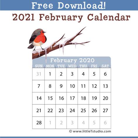 Mini Feb 2021 Calendar