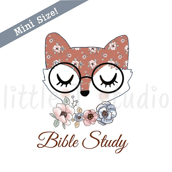 Floral Fox Bible Study Mini Size Stickers - Style 435M