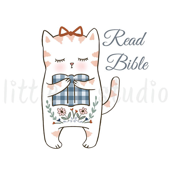 Read Bible Hygge Cat Stickers - Style 1105