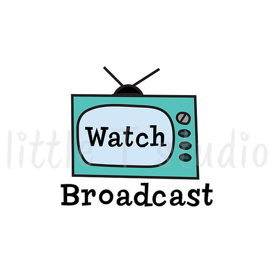 Watch Broadcast TV Reminder Stickers - Style 089 or 007M