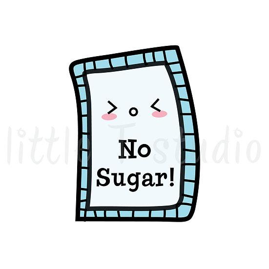Kawaii Stickers - No Sugar - Style 002-K