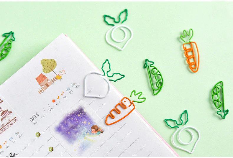 Garden Veggies Paper Clip 3 Piece Set
