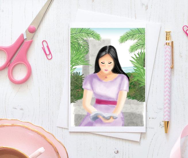 Print-Ready Personal Study Greeting Card & Matching Envelope Set - Style 03DG