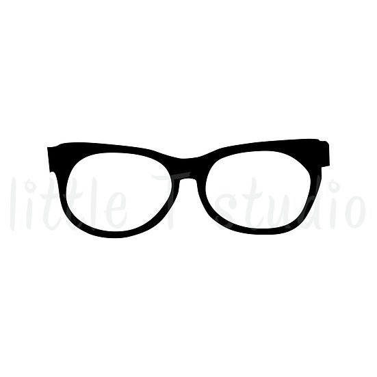 Study Glasses Mini Stickers - Style 019M