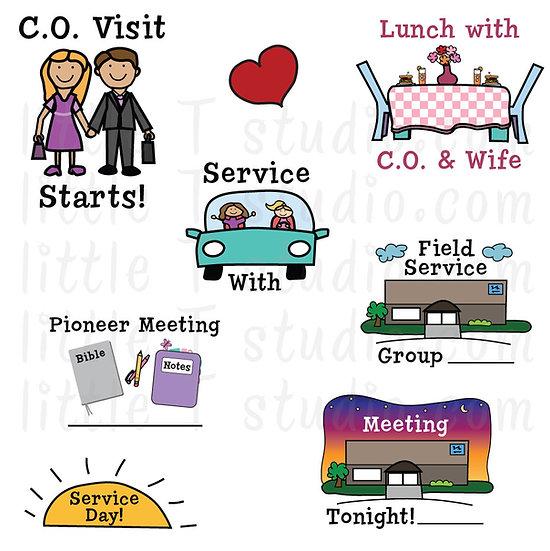 C.O. Visit Variety Pack Digital Clipart