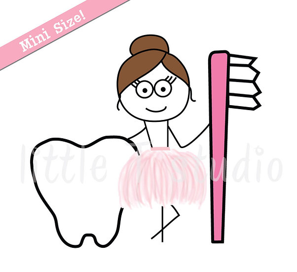 Busy Ballerina Mini Size - Dentist Appointment Stickers - Style 229M