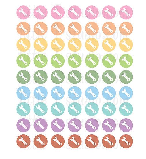 Repair Icon Micro Mini Stickers - Style 080M