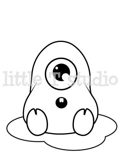 Imaginary Creatures Blobby - Kids Coloring Page