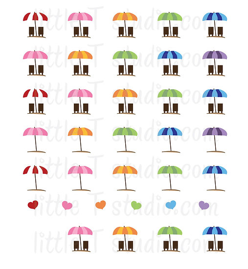 Vacation Day Reminder Mini Stickers! - Style 018M