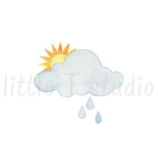 Partly Cloudy Chance of Rain Stickers - Style 462M or 478M