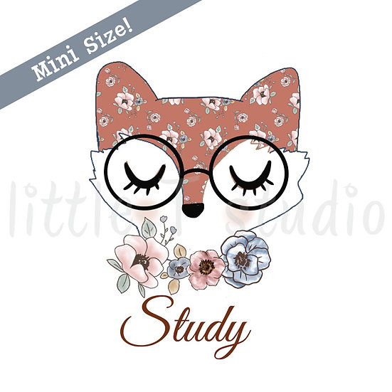 Floral Fox Study Stickers - Style 437M
