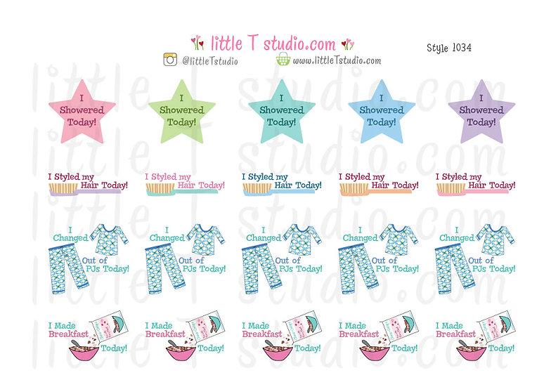 Funny Accomplishments Sticker Set 1 - Style 1034