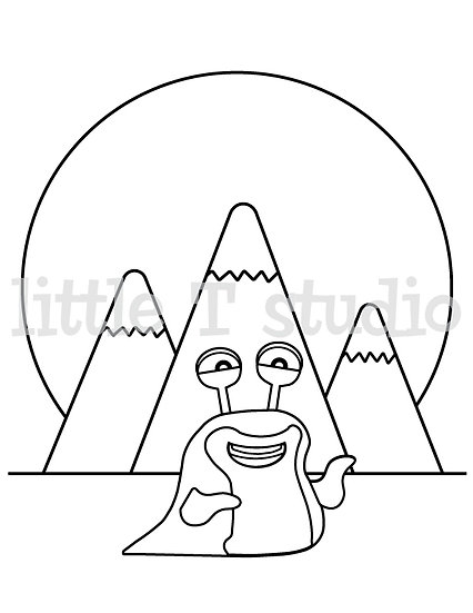 Imaginary Creatures Sammy - Kids Coloring Page