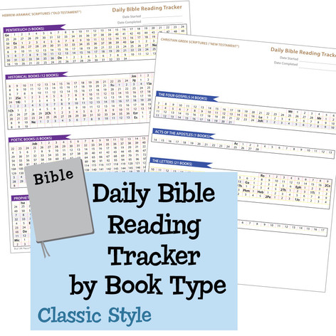 Daily Bible Reading Tracker by Book Type