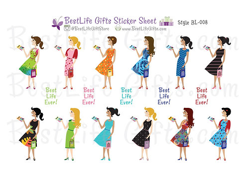 Best Life Ever Stickers - Style BL-008