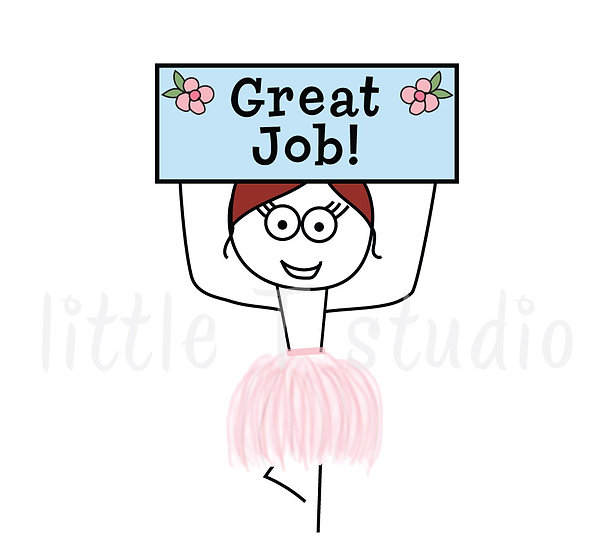 Busy Ballerina - Reward Stickers - Style 216