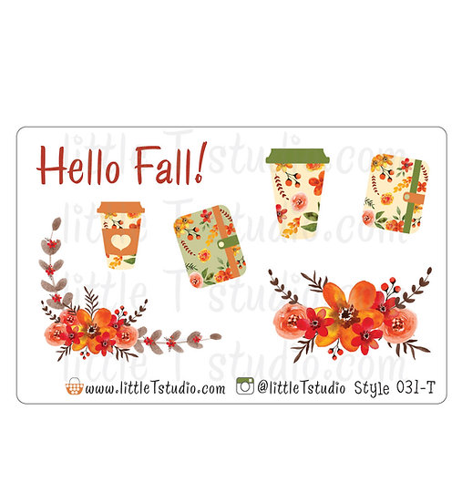 Crisp Fall Morning Stickers - Style 031-T