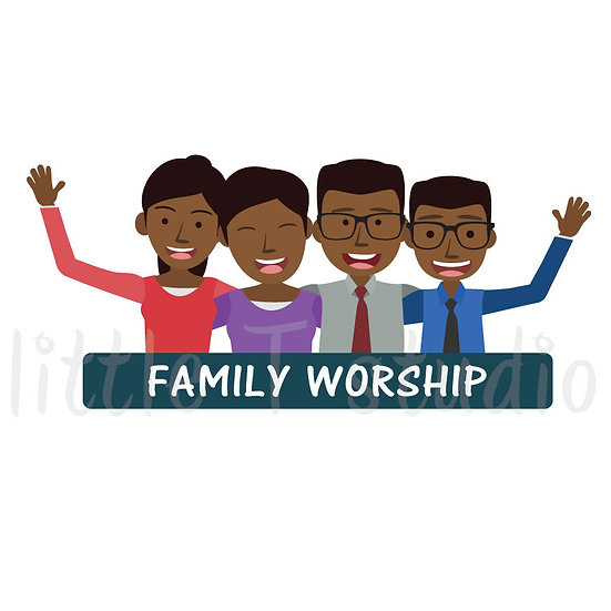 Family Worship Stickers - Style 1063