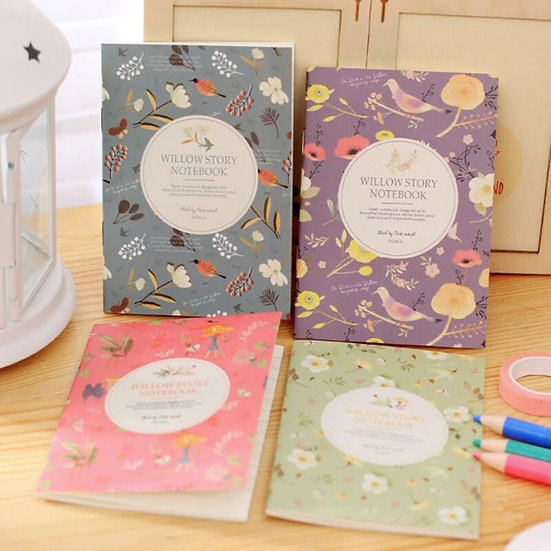 Mini Willow Story Floral & Fauna Notebooks