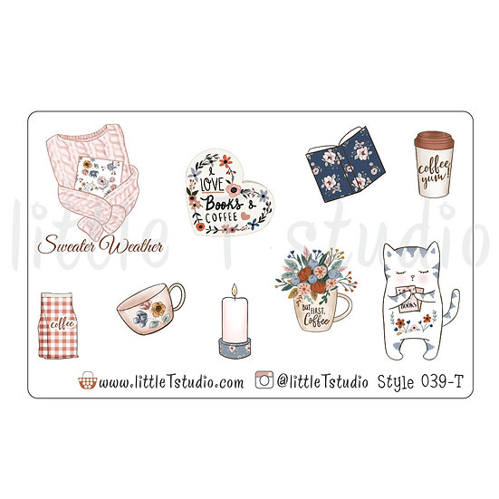 Sweater Weather Stickers - Style 039-T