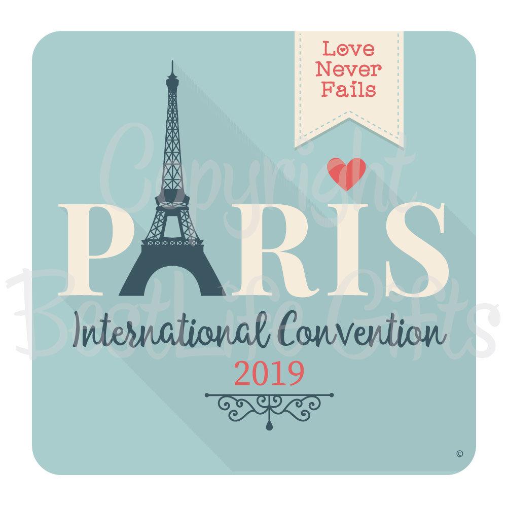 2019 Convention Magnet - Paris - 2 5 X 2 5 Inch