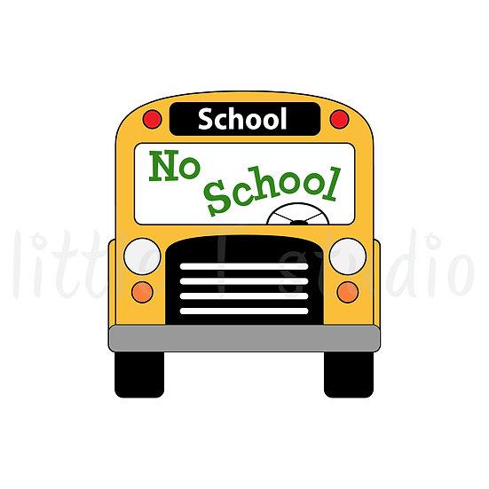 No School, Field Trip, First Day School Bus Reminder Mini Stickers - Style 063M