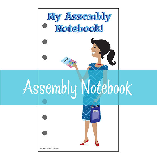 Medium Size Print-Ready Assembly Notebook Sheets