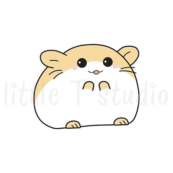 Kawaii Stickers - Little Tan Hamster - Style 035-K