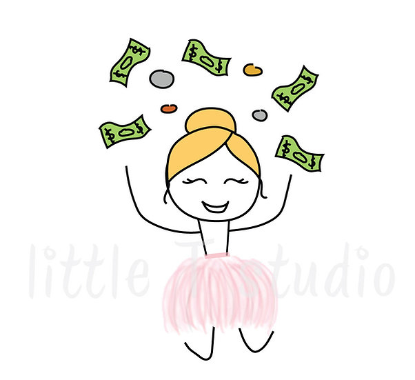 Busy Ballerina - Pay Day Stickers - Style 201