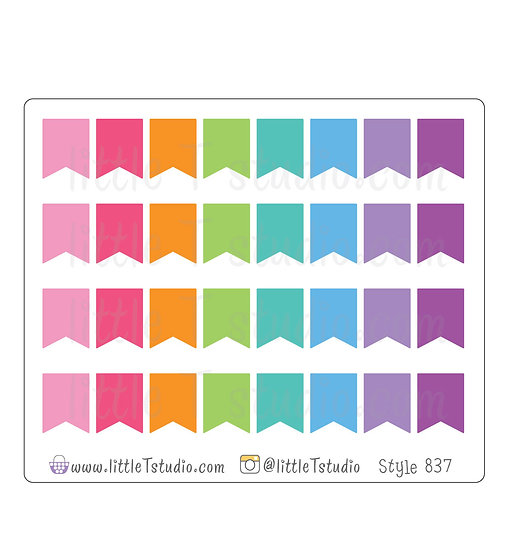 Colorful Small Flag Stickers - Style 837
