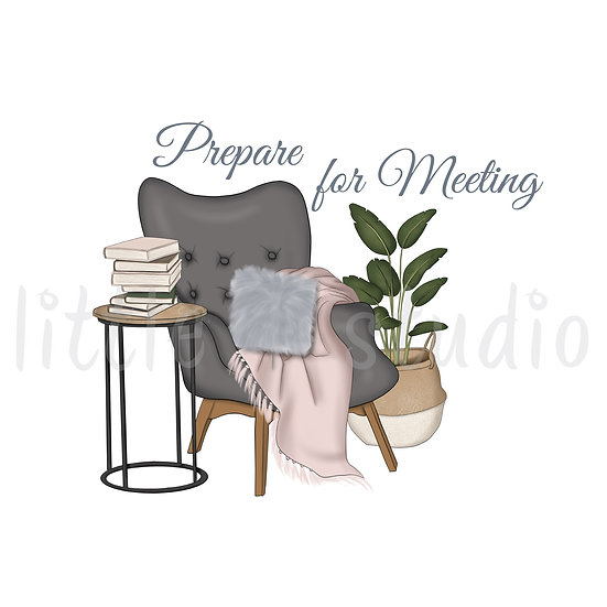 Cozy Home Prepare for Meeting Stickers - Style 1119 or 311M