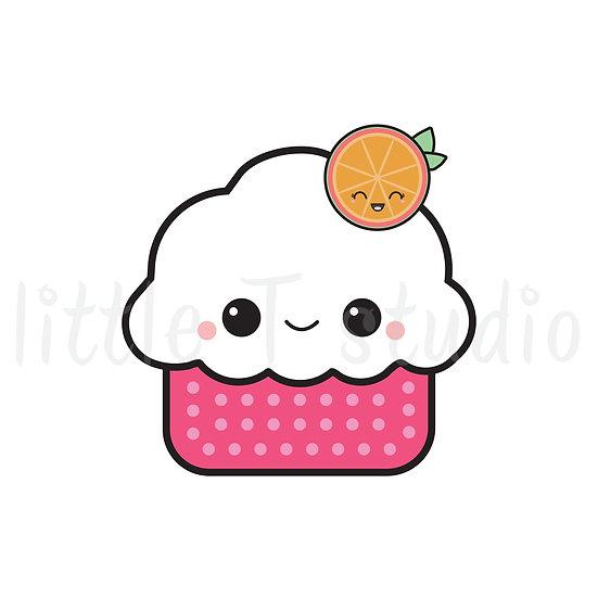 Kawaii Stickers - Cupcake - Style 001-K