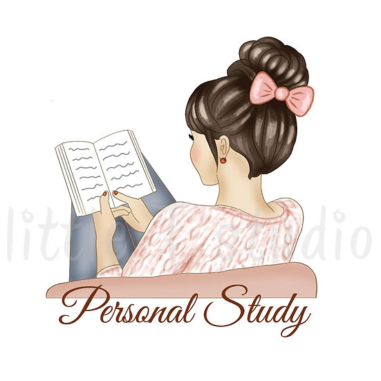 Personal Study Stickers - Light Skin, Dark Hair - Style 1084