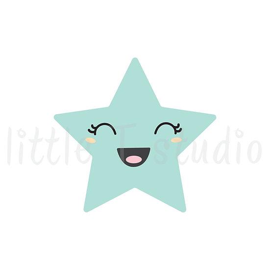 Kawaii Stickers - Happy Stars - Style 030-K