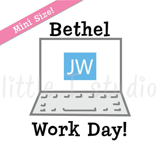 Bethel Work Day Mini Size Stickers - Style 168M