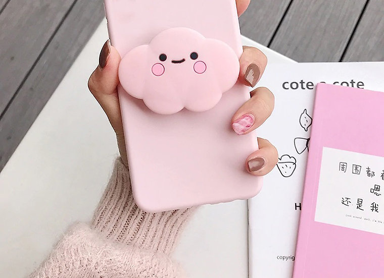 Kawaii Pink Cloud iPhone 12 Case, iPhone 12 Pro Case