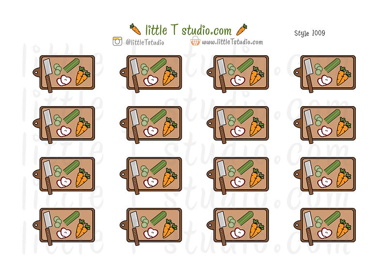 Food Prep Board - Healthy Eating Stickers - Style 1009