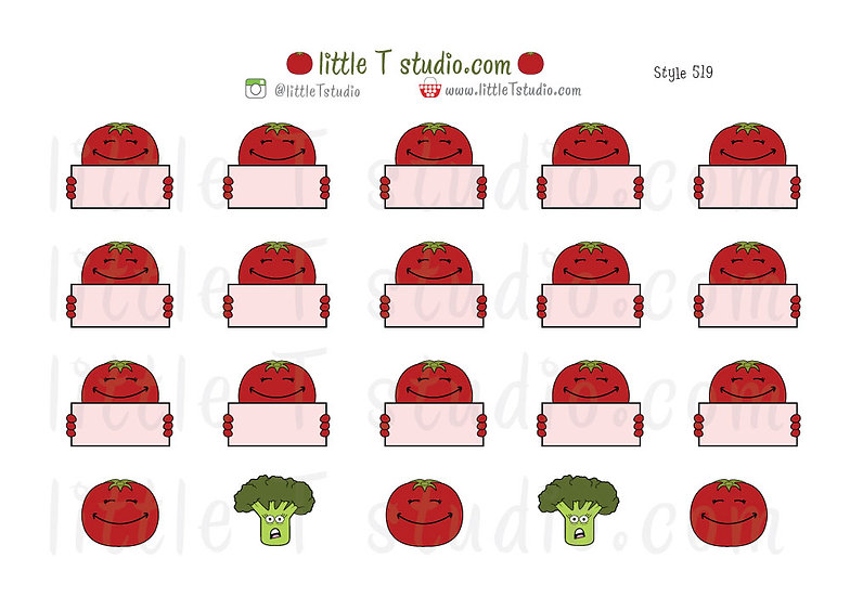 Joys of Life Meal Planning Stickers - Tomatoes - Style 519