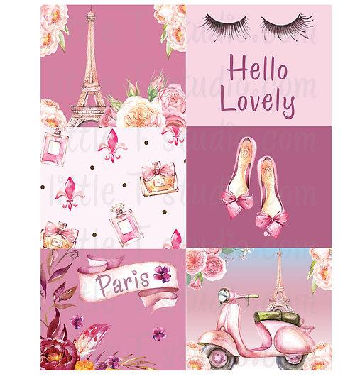 Lovely Paris - Deluxe Mini Size Sticker Kit - Styles 300M - 303M